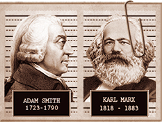 Image result for adam smith vs karl marx